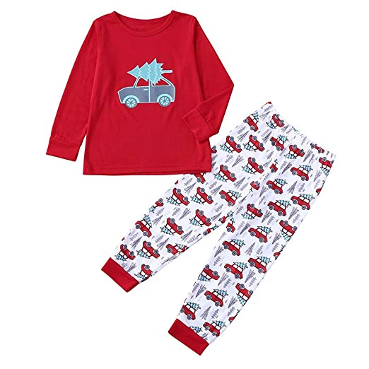 44911b5a4 Amazon.com  Christmas Outfit Clothes Binmer Boys Girls Car Print ...