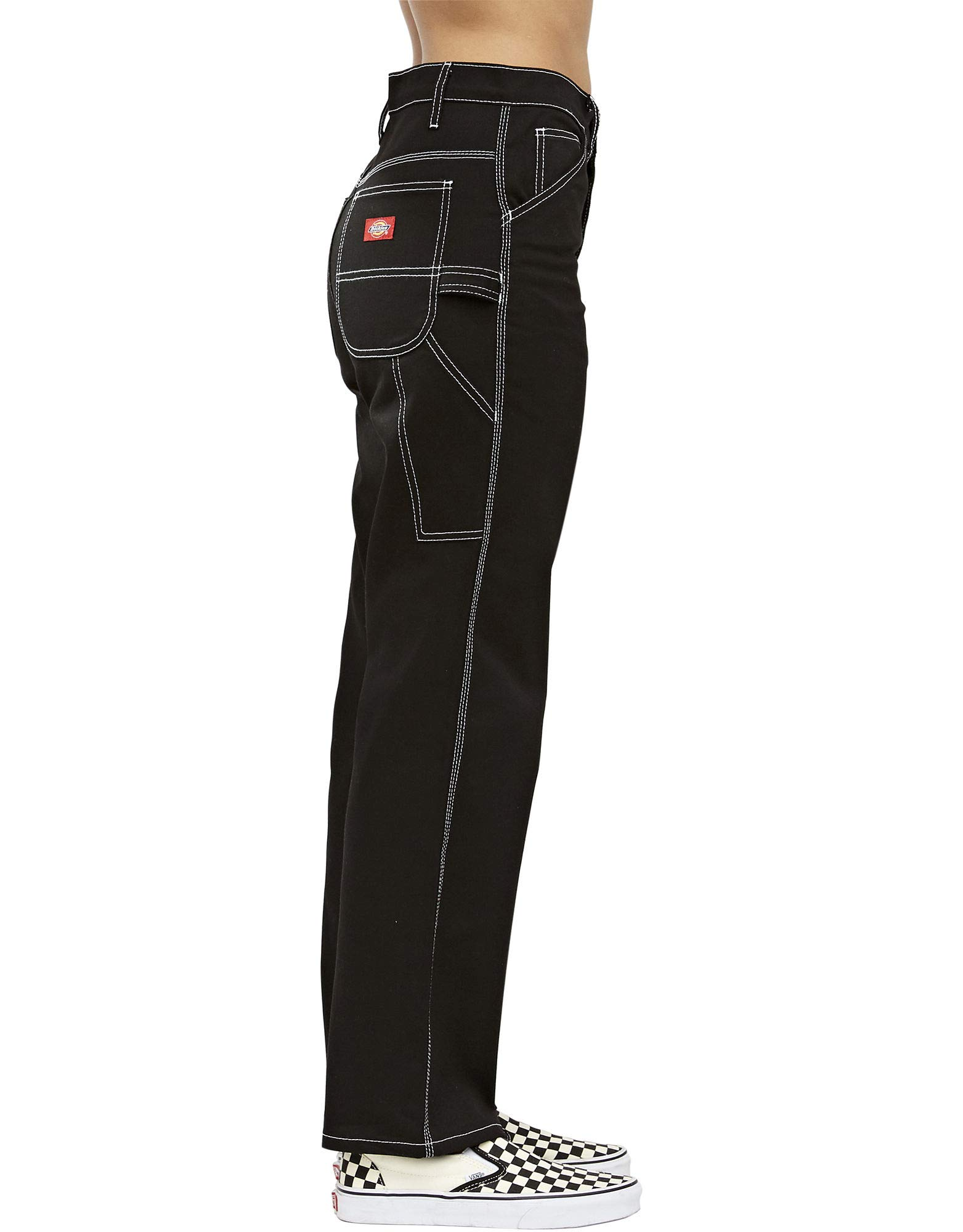 Dickies Girl Juniors' Relaxed Fit High-Rise Twill Carpenter Pants (Black, 5) by Dickies (Image #3)