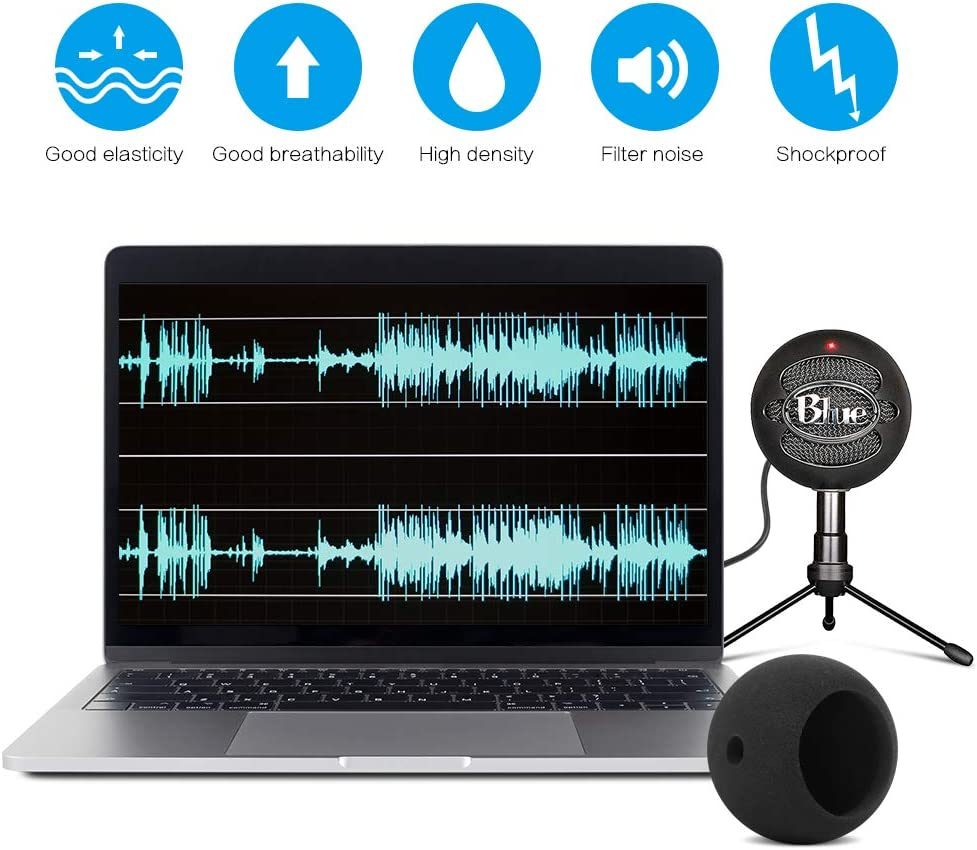 InnoGear Adjustable Mic Stand for Blue Snowball and Blue Snowball iCE Suspension Boom Scissor Arm Stand with Microphone Windscreen and Dual Layered Mic Pop Filter, Max Load 1.5 KG: Musical Instruments