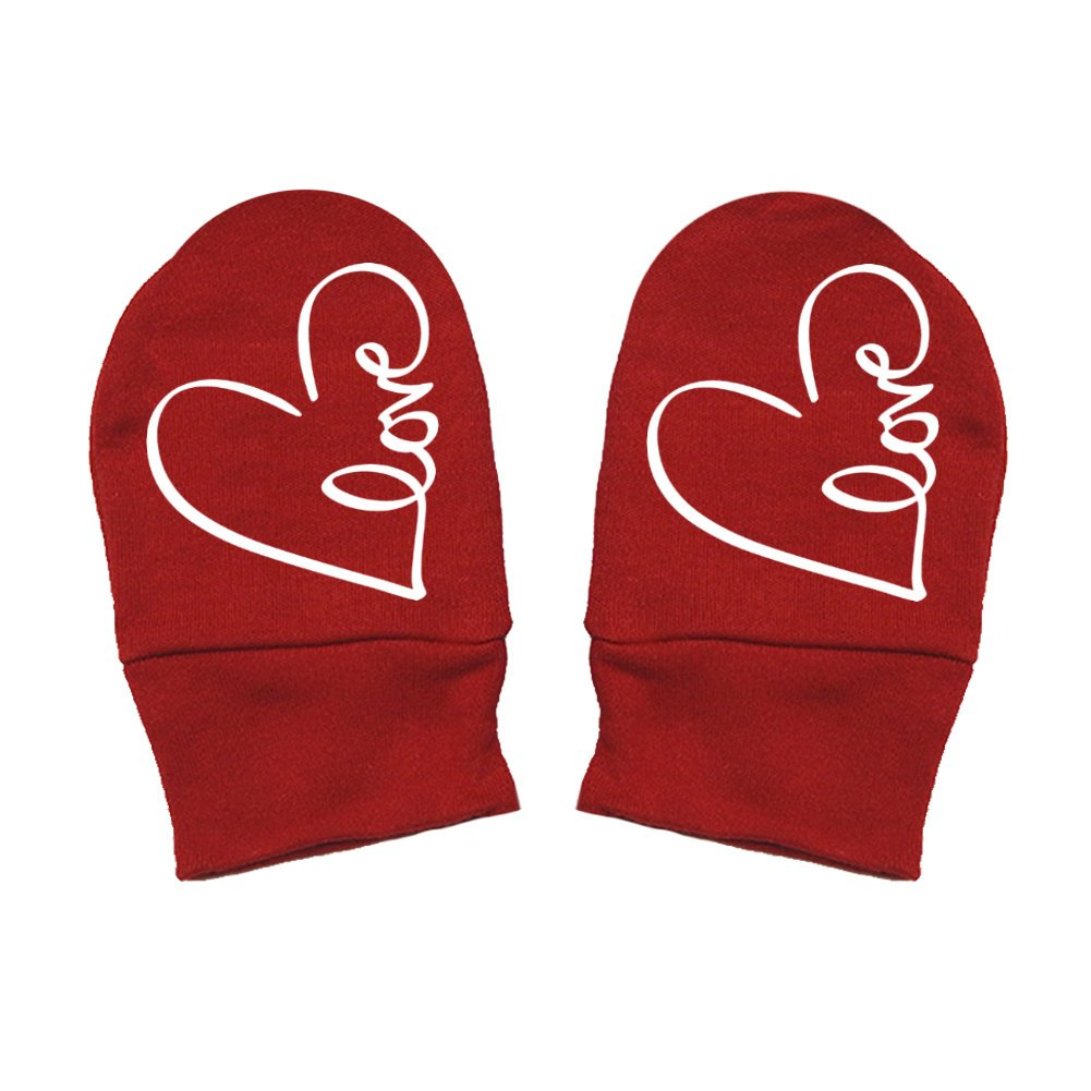 - Valentines Day Thick Premium Infinity Heart Mashed Clothing Unisex-Baby Thick /& Soft Baby Mittens Love