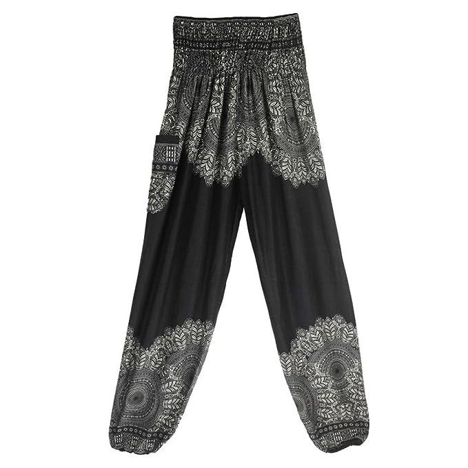 Amazon.com: FIRERO Men Women Thai Harem Trousers Boho ...
