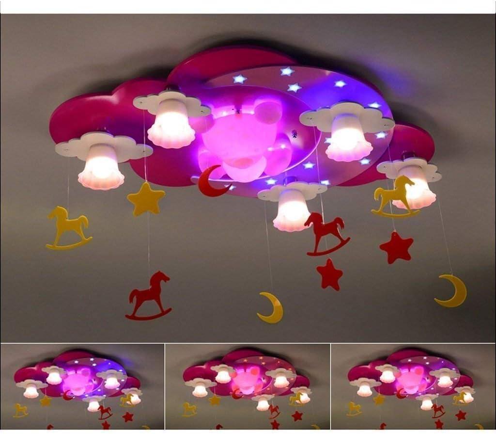 GCCI House of Lustre Enfant Cr/éatif Incendies Princesse Mignon Petit Ours LED Plafonnier Fille De Bande Dessin/ée Chambre Enfants Lightshome D/écoration