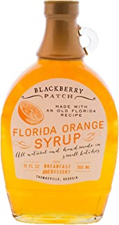 product image for Blackberry Patch Florida Orange Syrup All Natural Handmade In Small Batches | For breakfast pancakes and waffles or drizzled over fresh fruit. (12 fl oz, Florida Orange)