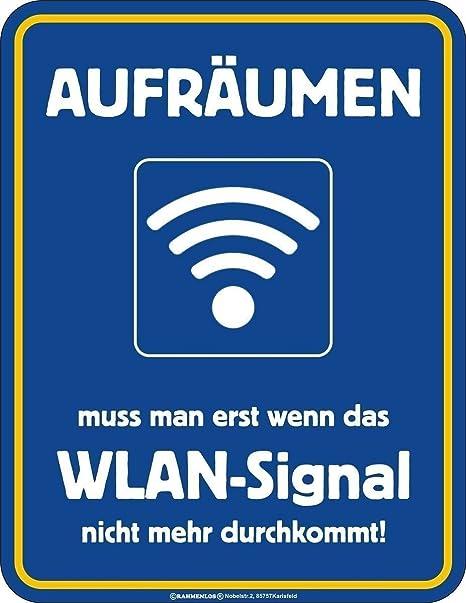 Original sin marco, Cartel de chapa Aufräumen Hay Que, Si el ...