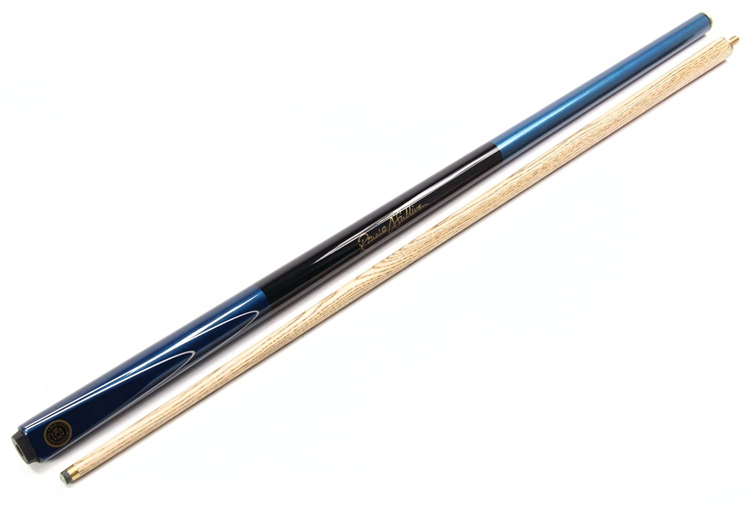 Metallic 2pc Ash Pool Snooker Cue with Painted Black Grip and 9.5mm Tip RILEY Ronnie O`Sullivan MERLIN