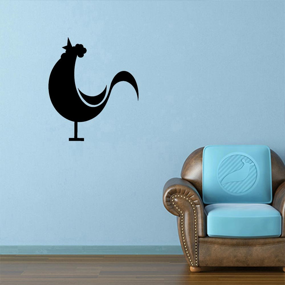 Amazon.com: Crowing Farm Rooster Decal Sticker (matte black, 5 inch ...