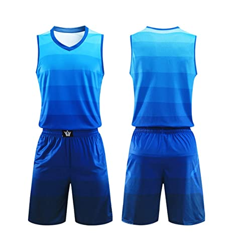 more photos 988b7 137bf Amazon.com : Basketball Jersey Sports Shirt Uniform Set for ...