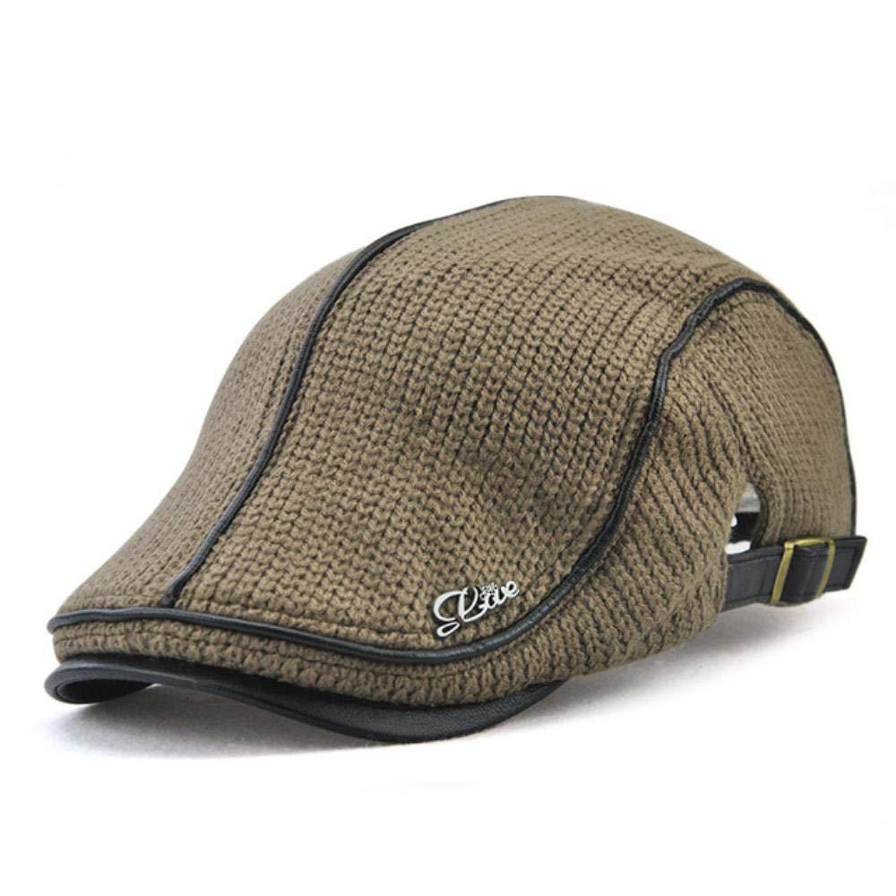 Hakazhi Inc Brand Knitted Beret Casquette Homme Leather Flat Cap for Men Boina Hombre Visor Hat Planas Snapback Hat