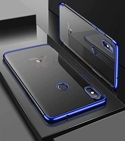 best sneakers 51a5c 1408e Amozo Electroplated Series Soft Transparent Thermoplastic Polyurethane Back  Cover for Redmi Note 6 Pro (Blue)