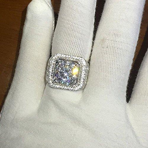 Sumanee Fashion 925 Sterling Silver White Topaz Wedding Ring Women Men's Jewelry S4 6-10