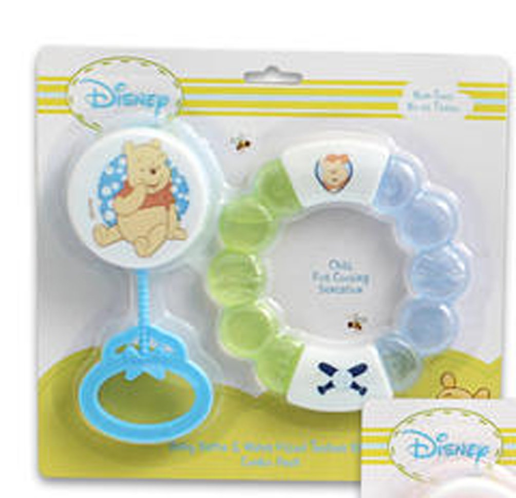 Disney Winnie The Pooh Water Filled Teether Ring with Babby Rattle (Boys) by Disney   B00TS9Q5O4