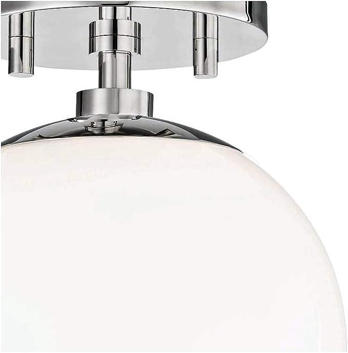 Mitzi H105601 Pn Stella One Light Semi Flush Mount Polished Nickel Finish With White Glass Amazon Com