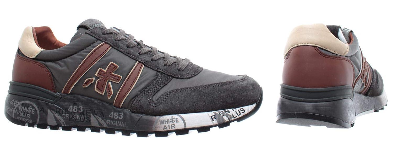Uomo 3243 Premiata Grey40MainappsAmazon Lander Grigia Sneaker F1KclJ