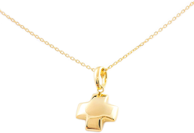 18ct Yellow Gold square Cross