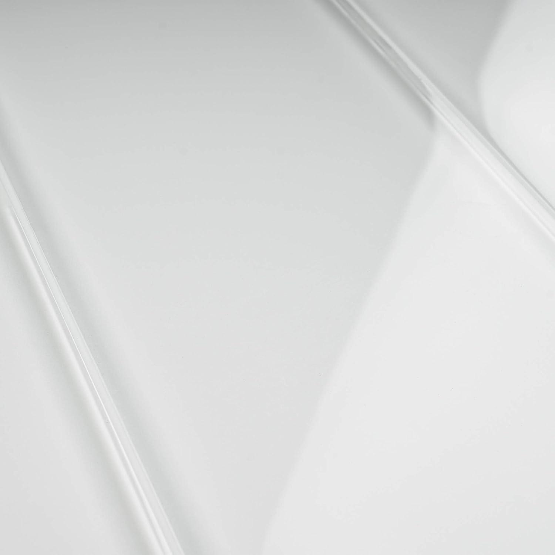 Kitchen and Bathroom Backsplash Tile Wall Tile Tile Generation TCSBG-03 4x12 White Glass Subway Tile 1pc Sample
