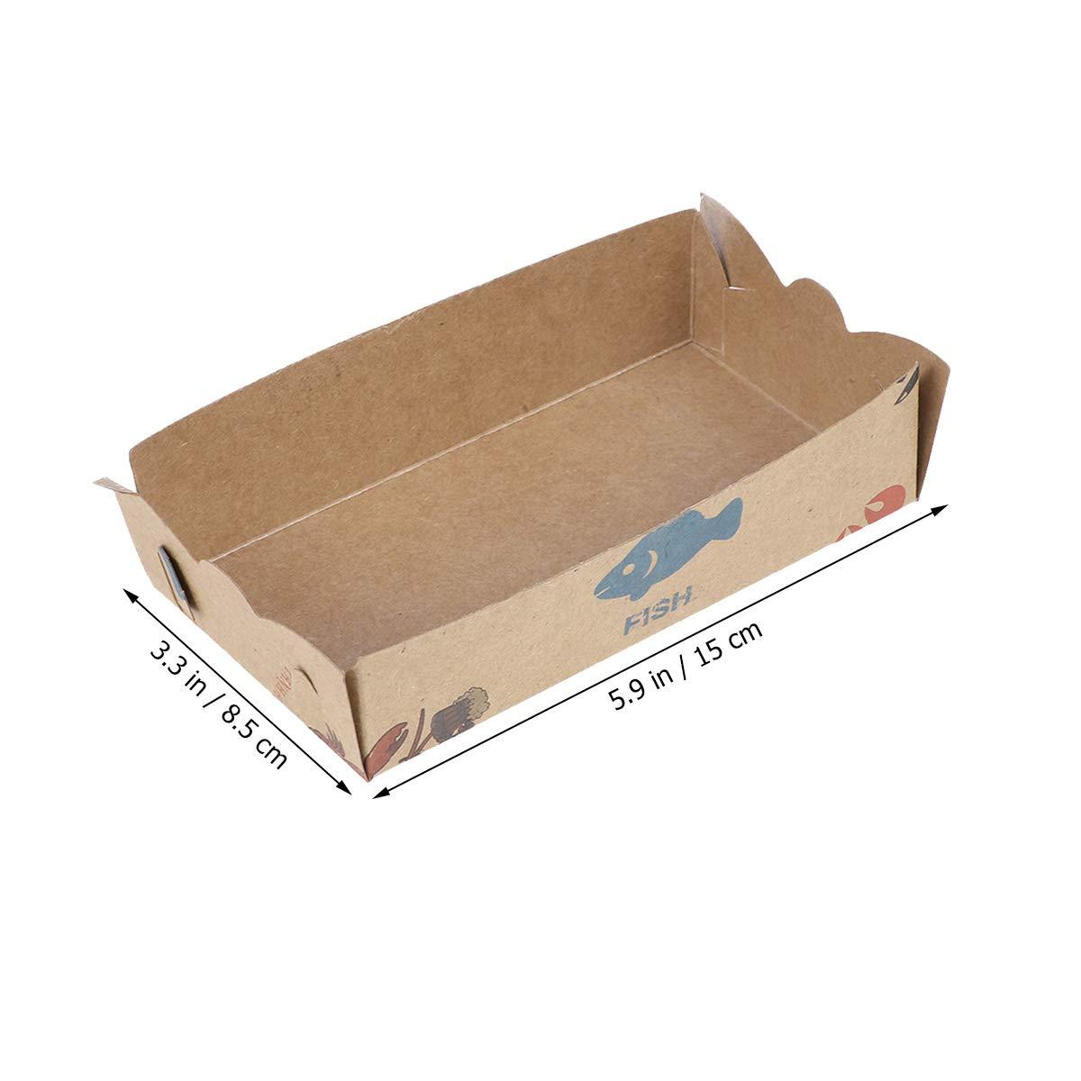 Amosfun 100 Piezas Cajas de Comida Desechables para Fruta Hamburguesa Galletas: Amazon.es: Industria, empresas y ciencia