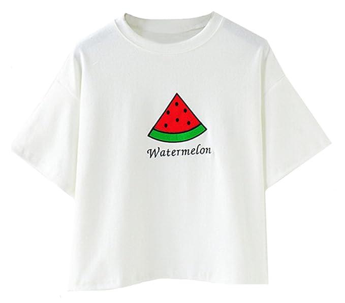 Sheinside - Camiseta - para mujer blanco talla única