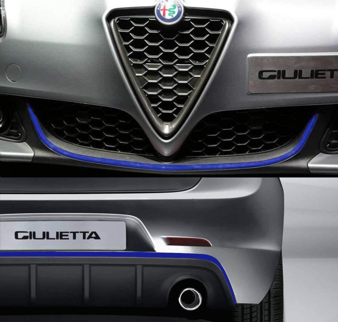Quattroerre 19967 Profilo Blu Adesivo per Dam Paraurti Anteriore Alfa Giulietta, 11 mm x 1,10 mt