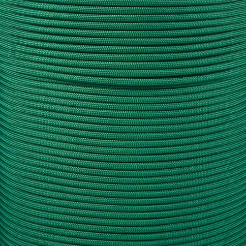 PARACORD PLANET 550 Cord Type III 7 Strand Paracord 1000 Foot Spool - Kelly Green