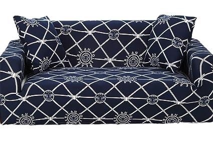Astounding Amazon Com Alibalala Navy With Geometry And Floral Print Machost Co Dining Chair Design Ideas Machostcouk