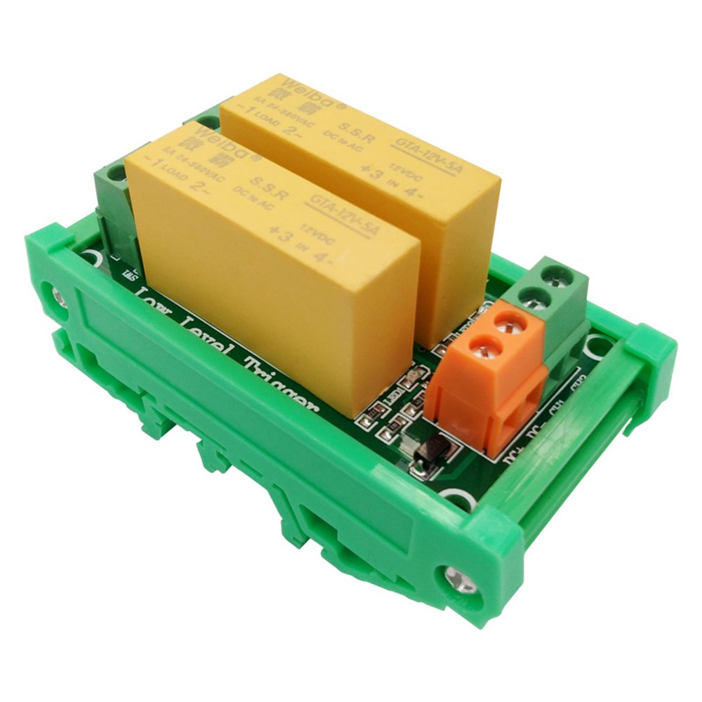 Fengyun 2 Channel 5v Low Level Trigger Relay Module Dc Control Ac Board Solid State
