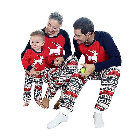 BaZhaHei-Navidad Niño bebé niño niña Capucha Mameluco Mono Pijama Familia Ropa de Dormir Traje de Navidad Mujeres Hombres Viajes Vacaciones con ...