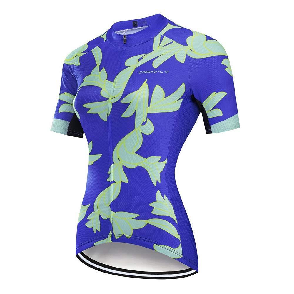 L.J.JZDY Fahrrad Trikot Fahrradtrikot for Frauen Atmungsaktiv Kurzarm Radtrikot Mannschaftssport Wandern Laufbekleidung Sportkleidung