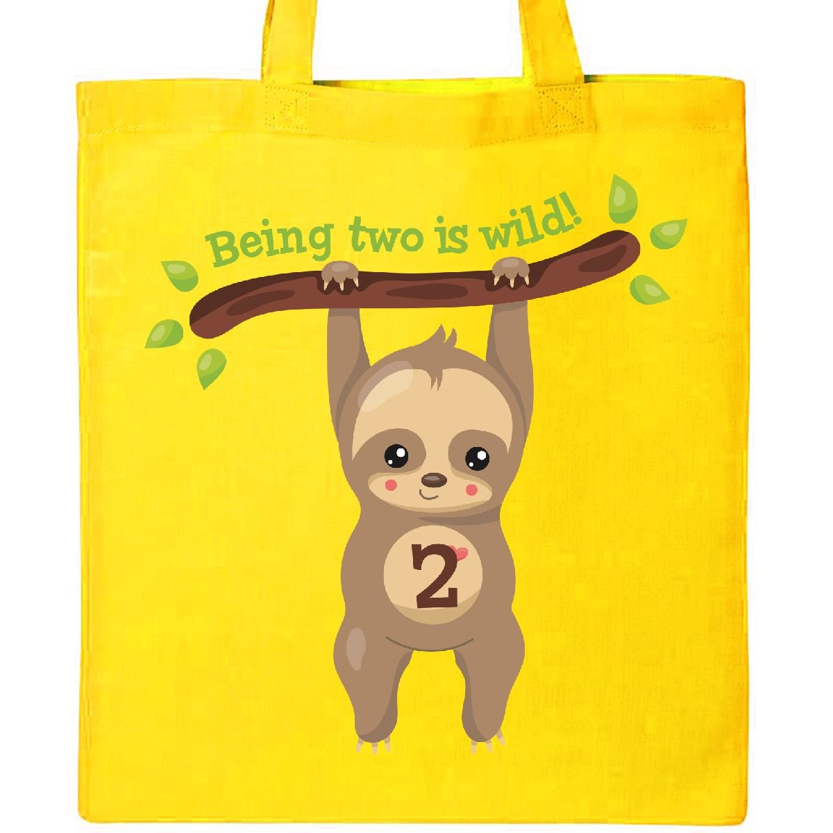 Inktastic - Cute Sloth 2nd Birthday Tote Bag Yellow 2f910