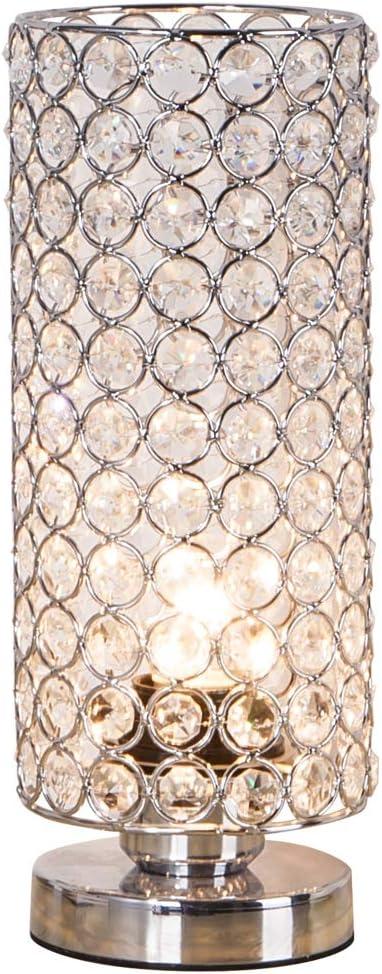 LED Tisch Lampe Schlafzimmer Kristall Ring Nacht-Licht Effekt Big Light