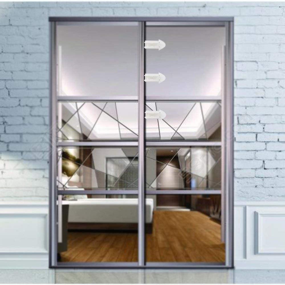 Cierre de puerta corredera, 6 unidades, 3 m, adhesivo fuerte, fácil de instalar, apto para puerta corredera de terraza/ventana, armario, puerta corredera de baño, protección de seguridad infantil: Amazon.es: Bricolaje y herramientas