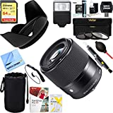 Sigma 30mm F1.4 DC DN Lens for Micro 4/3 Mount + 64GB Ultimate Filter & Flash Photography Bundle