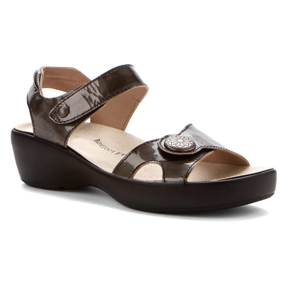 Drew Women's Andi Sandals B00IND4OEY 9.5 C/D US|Silver Marble Patent