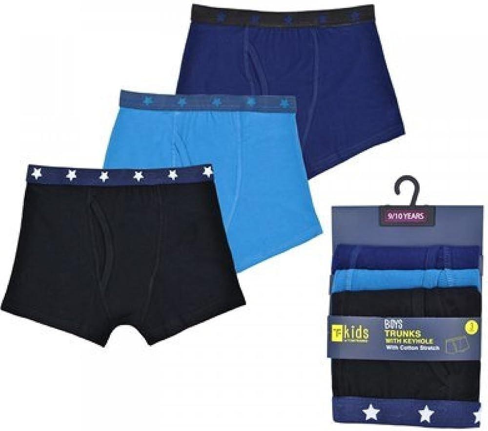 TF 3 Pairs of Boys Boxer Shorts Briefs Underwear RJM Design