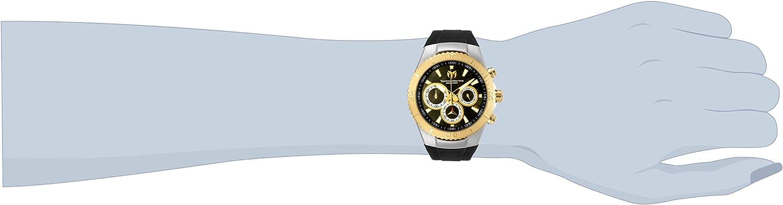 Technomarine Women's Sea Manta Stainless Steel Quartz Watch with Silicone Strap, Black, 26 (Model: TM-218044)