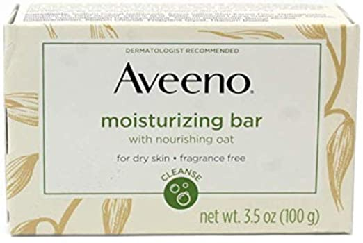 AVEENO Naturals Moisturizing Bar for Dry Skin 3.50 oz (Pack of 12) - Packaging May Vary