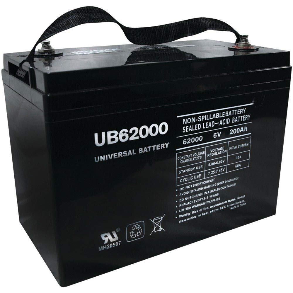 6 Volt 200 Amp Hour UB62000 Sealed Lead Acid Battery Replacement with I Terminals by UPG 45969