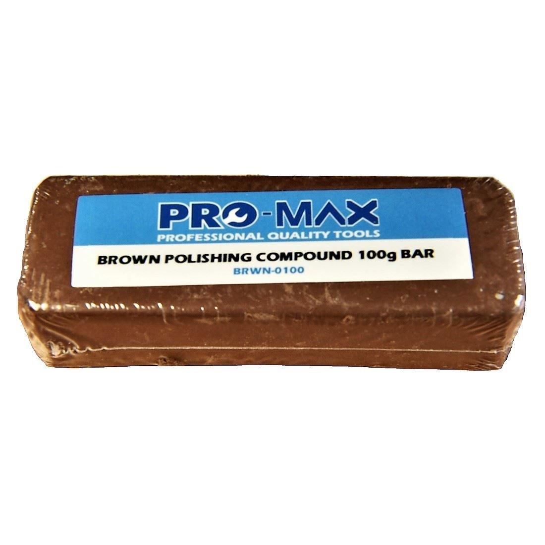 Pro-Max 100g Bar Brown Aluminium Alloy Brass Metal Polishing Buffing Compound Metal Polishing Supplies UK Ltd