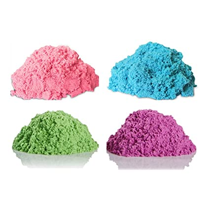 Kinetic Sand NEON Colors GIFT SET! | Includes NEON PINK 6 oz. - NEON BLUE 6 oz. - NEON GREEN 6 oz. - NEON PURPLE 6 oz. |