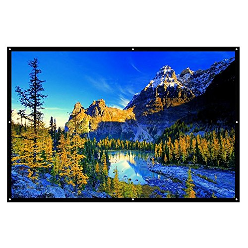 Projector Screen, Auledio Portable Outdoor Movie Screen 84' 16:9 Home Cinema Theater Projection Screen