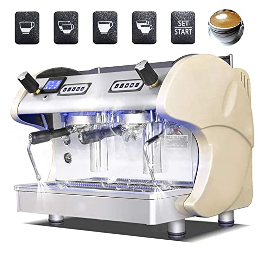 ZJINHUI Máquina de café Comercial, máquina de café exprés Express ...