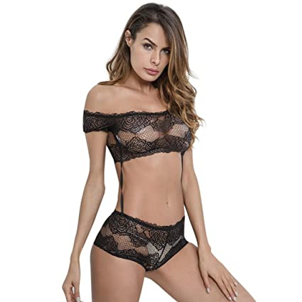 b666c2aaf Amazon.com  Sunbona Women s Sexy Lace Passion Lingerie Ladies Push ...