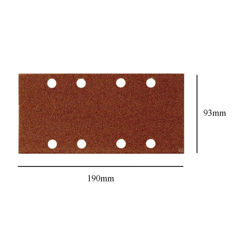 Abrasive Paper Sheets MASO 10 pcsx 1//3 Punched Sanding Sheets 93 x 190mm Sandpaper Pads Sander with Hook and Loop Grits 120