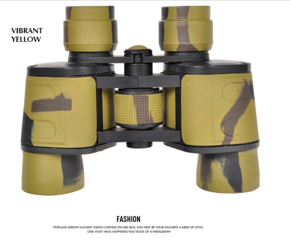CCLOON手持ち式8X40ハイデフィニションハイパワードナイトビジョンバードウォッチング、狩猟、スポーツ、野生動物のための両眼、完全にマルチコートされたレンズ (黄) B076ZVSF1R  黄