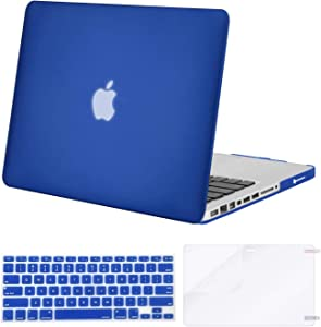 MOSISO Plastic Hard Shell Case & Keyboard Cover & Screen Protector Only Compatible with MacBook Pro 13 inch (A1278, Old Version with CD-ROM), Release Early 2012/2011/2010/2009/2008, Royal Blue