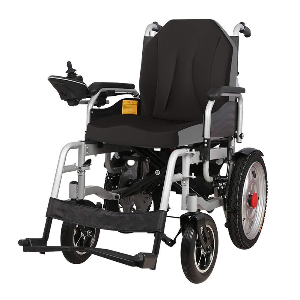 電動車椅子、コンパクト自走式 軽量電動車椅子/折りたたみ式および軽量の電動車椅子(リチウムイオン電池)電動車椅子 軽量 黒
