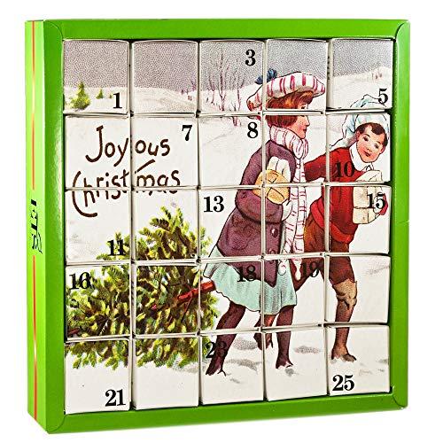 English Tea Shop Joyous Xmas Advent Calendar Nylon Pyramid, 50 Gram