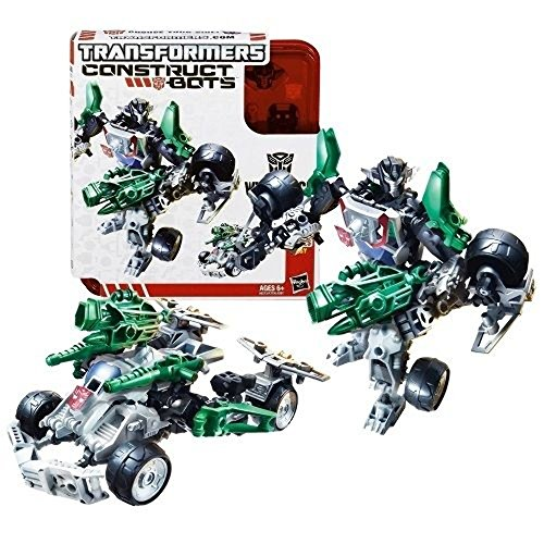 Hasbro Year 2013 Transformers Construct-Bots Series 6 Inch Tall Elite Class Robot Action Figure Set #E1:01 - Autobot WHEELJACK with Vehicle Mode as Sports Car (Total Pieces: 55)