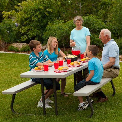 Lifetime 22119 Folding Picnic Table 6 Feet Putty Buy