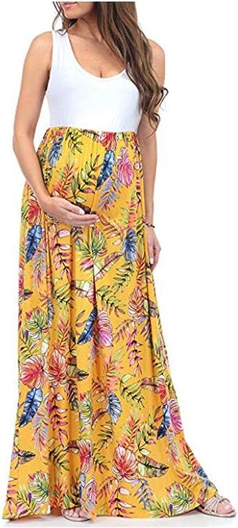 Gusspower Vestido de Maternidad, Ropa de Lactancia Floral ...