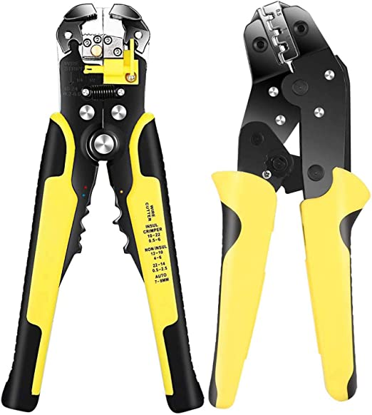 Wire Cable Cutter Stripper Crimper Terminal Tool Insulated 10-22 AWG Capacity